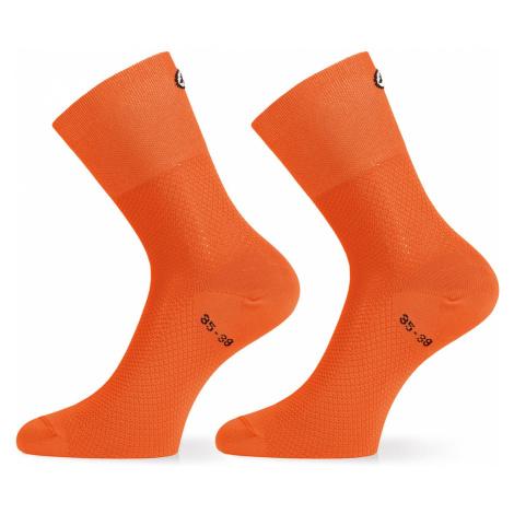 Ponožky Assos ASSOSOIRES GT SOCKS oranžová