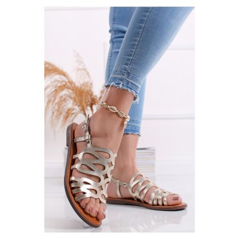 Zlaté nízké sandály Austin