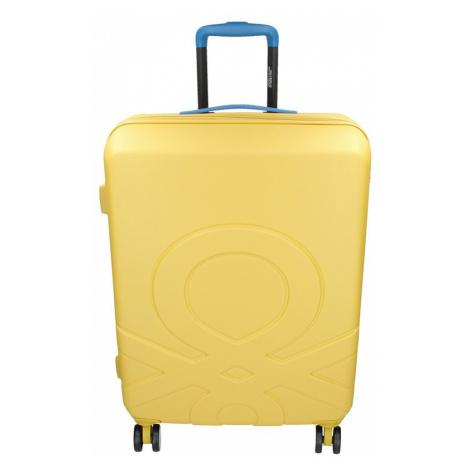 Cestovní kufr United Colors of Benetton Kanes L - žlutá 95l