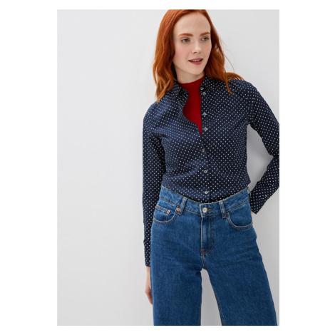 Tommy Hilfiger dámská tmavě modrá puntíkovaná košile
