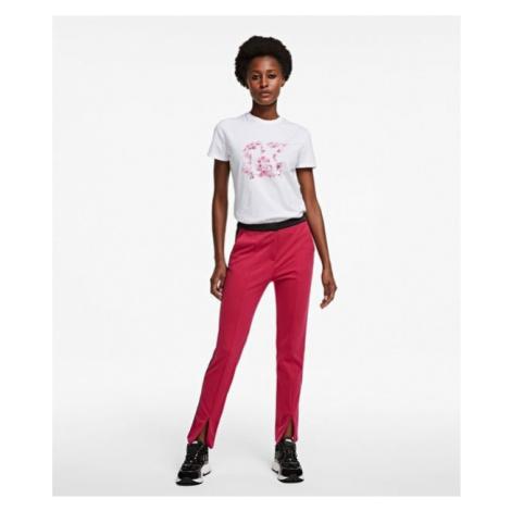 Kalhoty Karl Lagerfeld Punto Pants W/ Logo Tape - Růžová