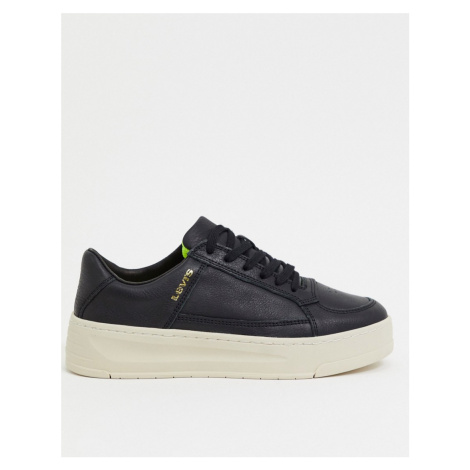 Levi's Silverwood wide sole trainers in black