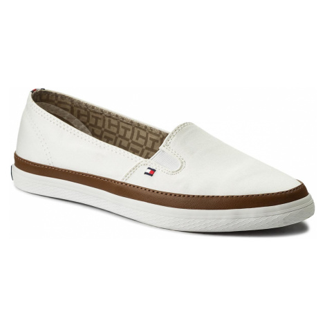 efb88130d2 -22 % Tenisky TOMMY HILFIGER - Iconic Kesha Slip On FW0FW01656 Whisper White  121