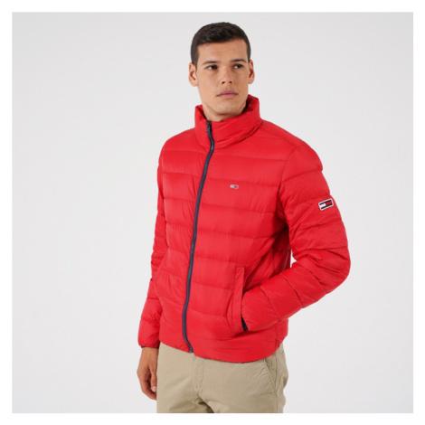 Tommy Jeans pánská červená prošívaná bunda Tommy Hilfiger