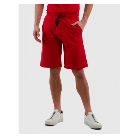 Teplákové Šortky La Martina Man Cotton Fleece Bermuda - Červená