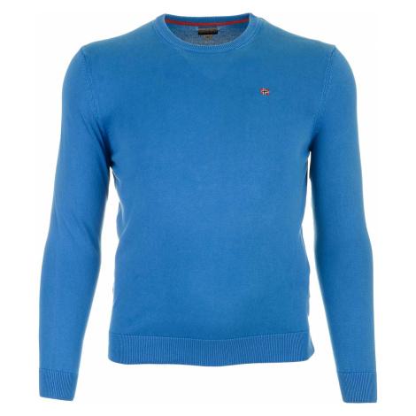 Pánský světle modrý bavlněný svetr Napapijri