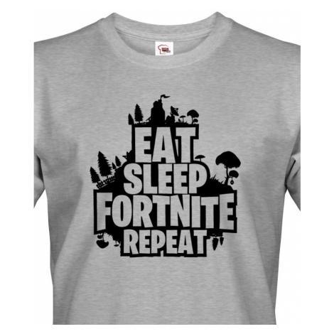 Pánské tričko s potiskem  Eat Sleep Fortnite Repeat BezvaTriko