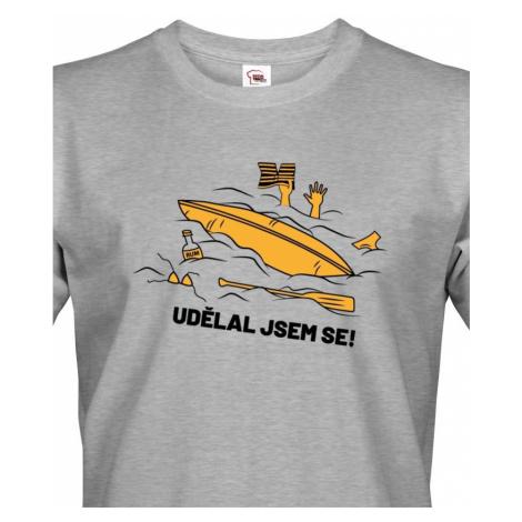 Pánské triko na vodu Udělal jsem se - dotisk jména nebo týmu BezvaTriko