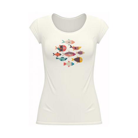 Dámské tričko velký výstřih Rybičky