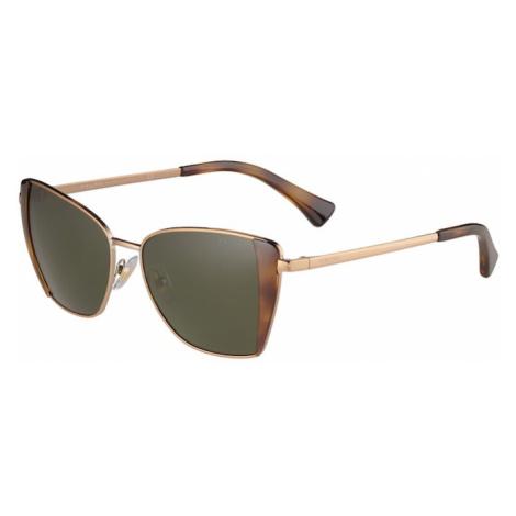 Ralph Lauren Sluneční brýle 'RA4133' zelená / zlatá / koňaková