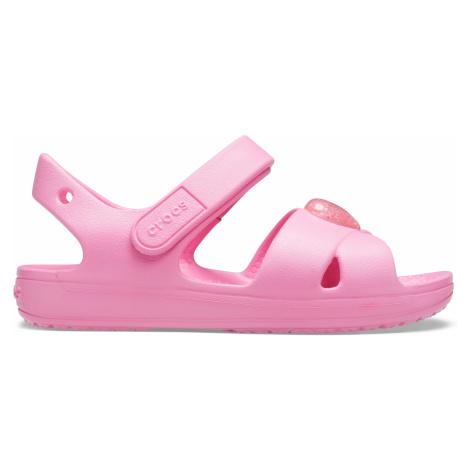 Crocs Classic Cross Strap Sandal PS Pink Lemonade C9
