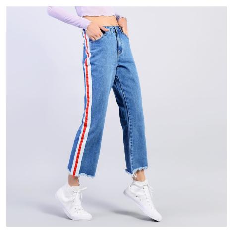 Modré džíny s proužkem Glamorous