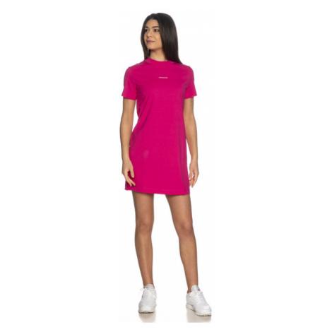 Calvin Klein Calvin Klein Jeans dámské růžové šaty MICRO BRANDING T-SHIRT DRESS