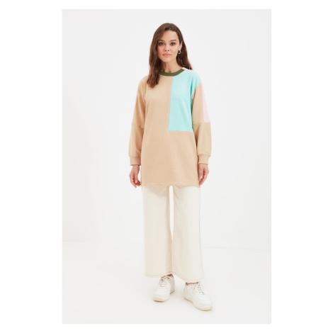 Trendyol Beige Knitted Sweatshirt