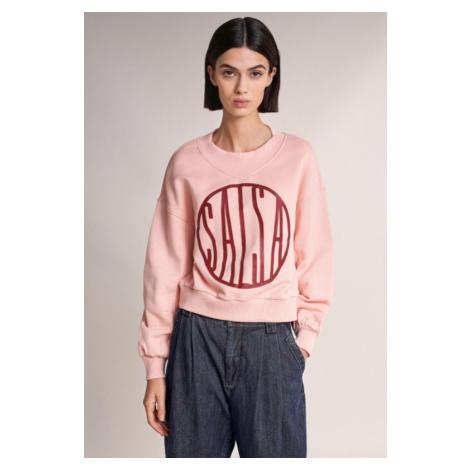 Salsa SALSA dámská světle růžová oversize mikina