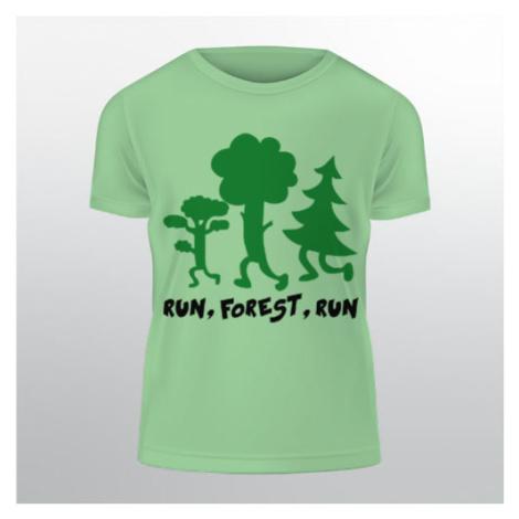 Pánské tričko Classic Heavy Run forest run