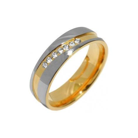 Silvego Snubní ocelový prsten pro ženy MARIAGE RRC2050-Z