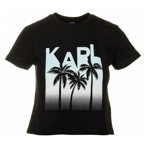 Karl Lagerfeld dámské tričko Crop Top černé