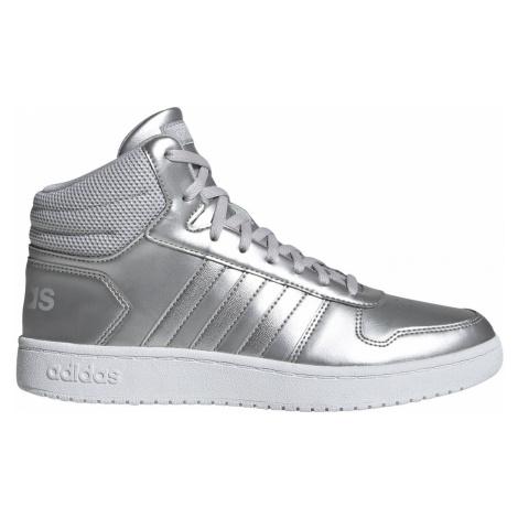 Dámská obuv adidas HOOPS 2.0. MID Stříbrná / Bílá