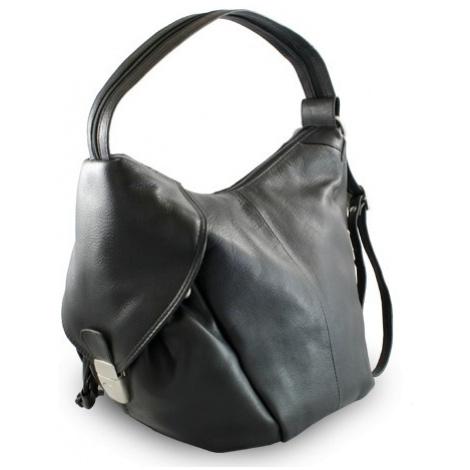 Černý kožený batoh a kabelka Khalesi Arwel