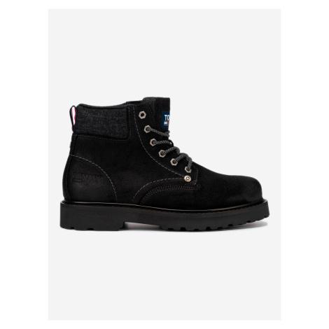 Lace Up Kotníková obuv Tommy Jeans Černá Tommy Hilfiger