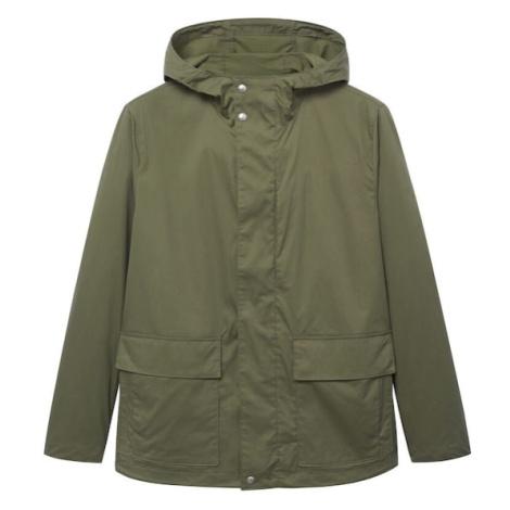 MANGO MAN Zimní kabát 'Jacob' khaki