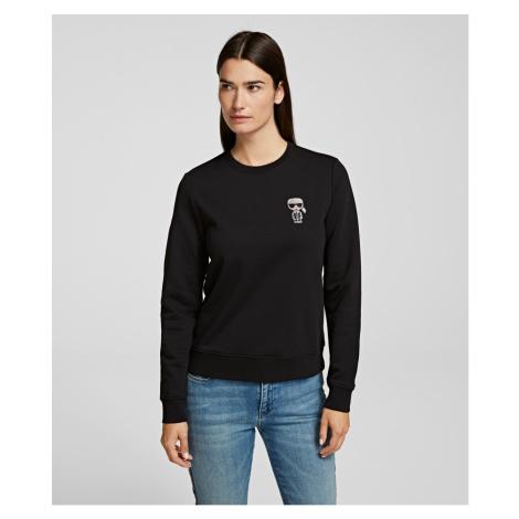 Mikina Karl Lagerfeld Ikonik Mini Karl Rs Sweatshirt - Černá