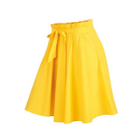 Dámská sukně do pasu Litex 5A088 | žlutá
