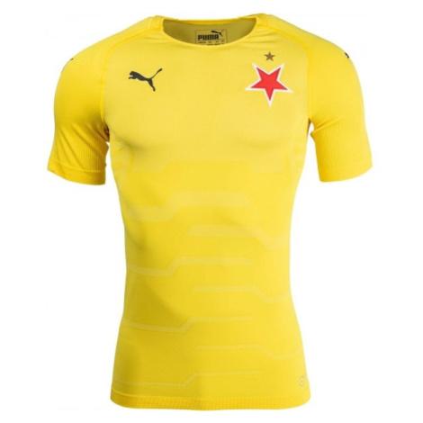 Puma SLAVIA FINAL EVOKNIT GK žlutá - Pánské brankářské triko