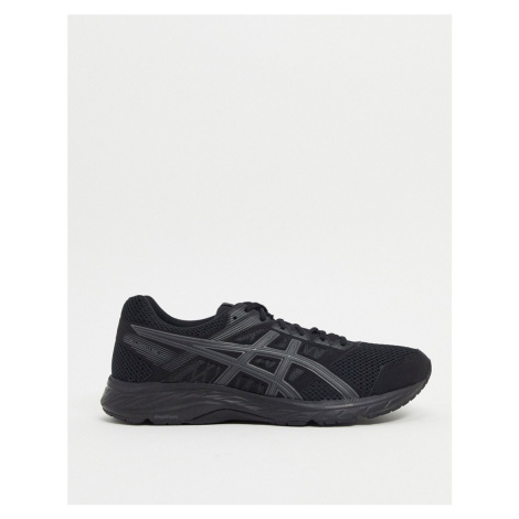 Asics Running gel contend 5 trainers in black