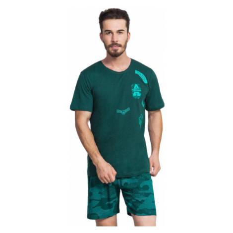 Pánské pyžamo šortky Vienetta Secret Air force | šedá