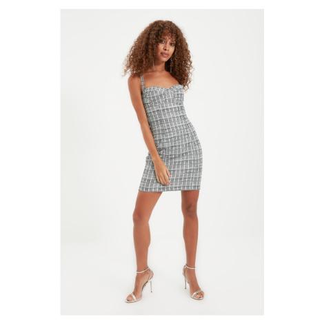 Trendyol Multicolor Lurex Tweed Dress