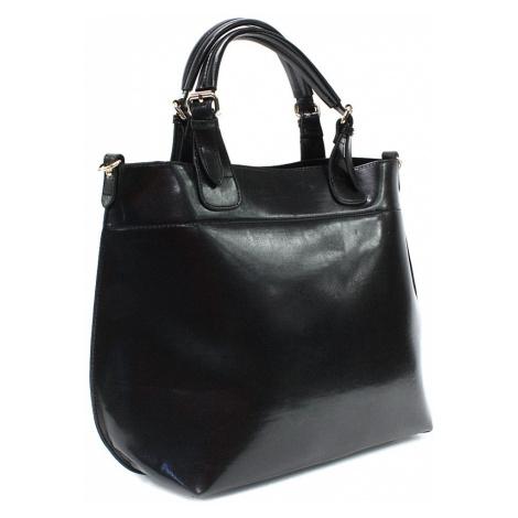 Černá dámská luxusní kabelka do ruky i přes rameno Apollina Mahel
