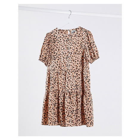 Lola May leopard smock dress-Multi