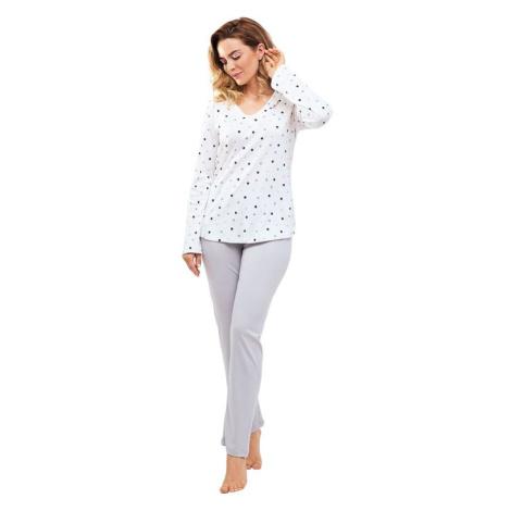 Dámské pyžamo Margot s barevnými puntíky Cana
