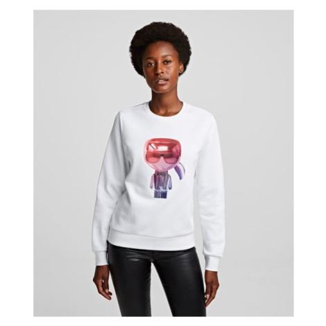 Mikina Karl Lagerfeld 3D Ikonik Karl Sweatshirt - Bílá
