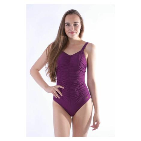 Jednodílné dámské plavky Lily fialové Self