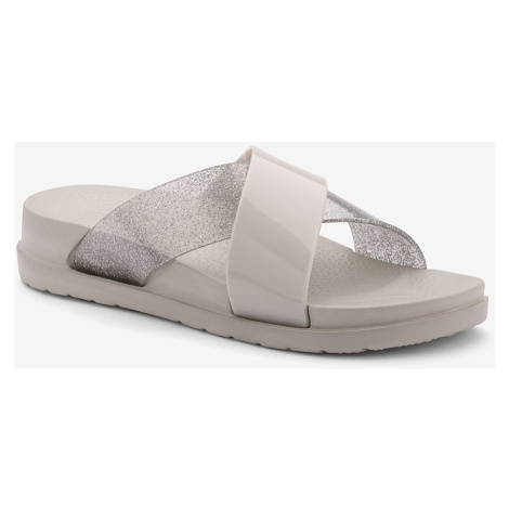 COQUI NELA Dámské pantofle 1342-560 Stone/Silver glitter