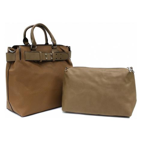 Hnědý dámský elegantní kabelkový set 2v1 Berthe Tapple