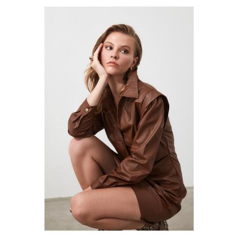 Dámské šaty Trendyol Leather