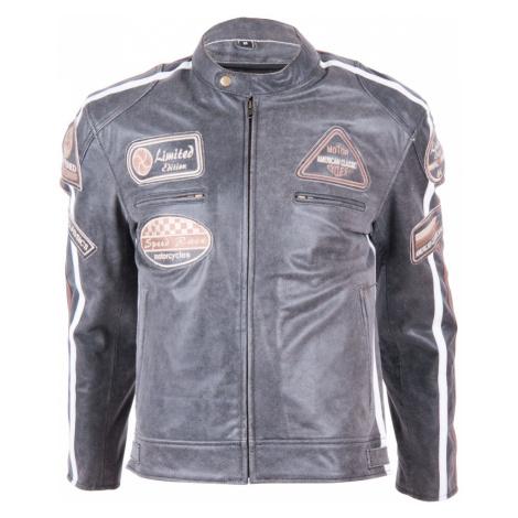 Kožená Moto Bunda Bos 2058 Vintage Grey Šedá