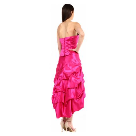 Dámské růžové korzetové šaty na ples