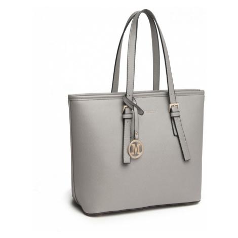 Šedá dámská kabelka do ruky či přes rameno Karcsi Lulu Bags