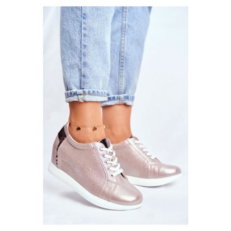 Women's Wedge Sneakers Sergio Leone Beige Flash SP235 Kesi