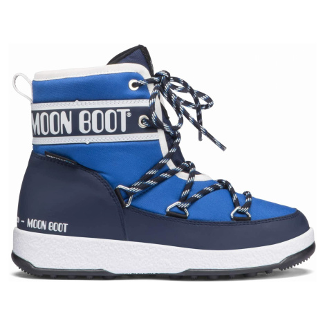 MOON BOOT JR BOY MID WP, 002 royal navy blue, size EU