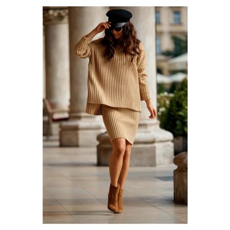 Lemoniade Woman's Set (Sweater+Skirt) LS308 Camel