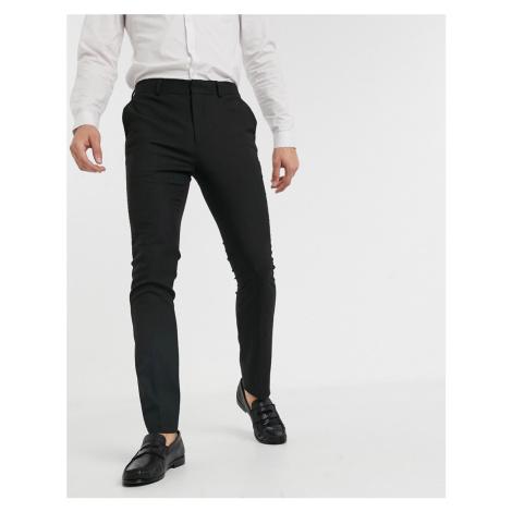New Look skinny smart trousers in black