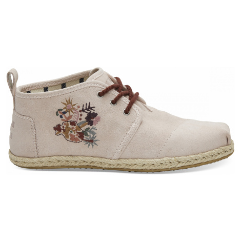 Bota - Floral embroidery leather rope sole Toms