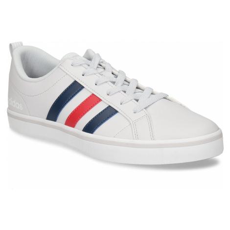 Bílé pánské tenisky s pruhy v červené a modré Adidas