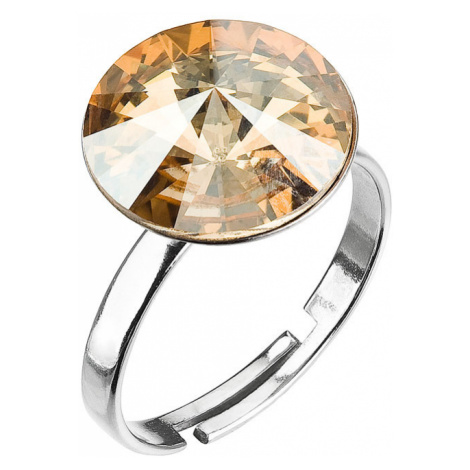 Evolution Group Stříbrný prsten s krystaly zlatý 35018.5 gold shadow
